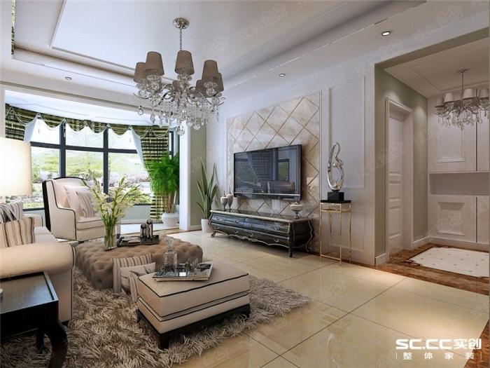 新古典风格-113.35平米三居室-装修样板间