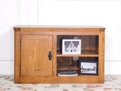 泽润木业-ZR108纯实木仿古色一门电视柜