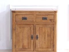 泽润木业-ZR105全实木仿古色餐边柜下柜