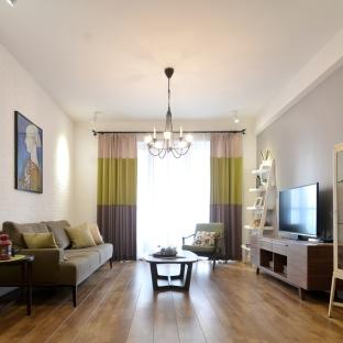 混搭风格二居室客厅装修效果图