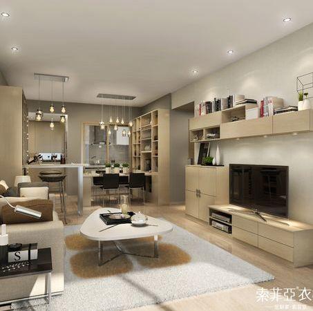 索菲亚 全屋定制拉德芳斯系列客厅整体家居系列