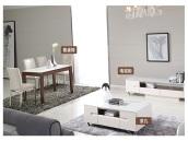 全友家私 餐厅家具组合钢化玻璃餐桌 餐桌 餐椅套装 1203