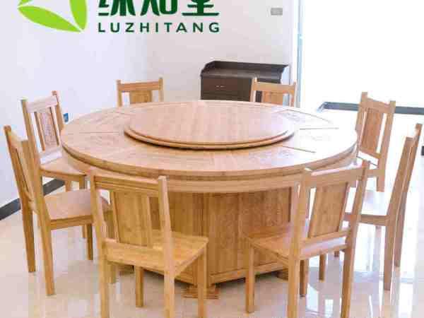 厂家直销全竹餐桌定做全竹双层圆桌 方桌餐台 餐桌椅套装
