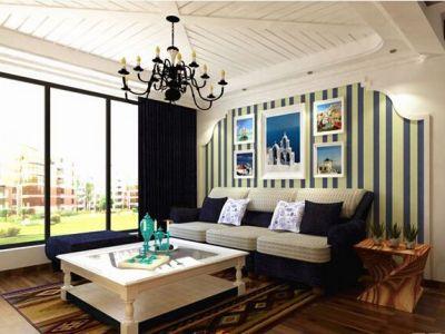 地中海风格-68.81平米二居室装修样板间