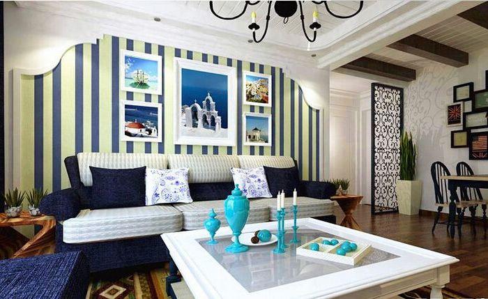 地中海风格-68.81平米二居室-装修样板间