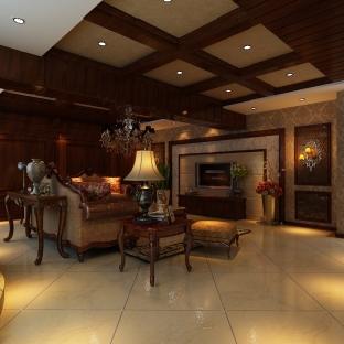 美式风格五居室装修效果图