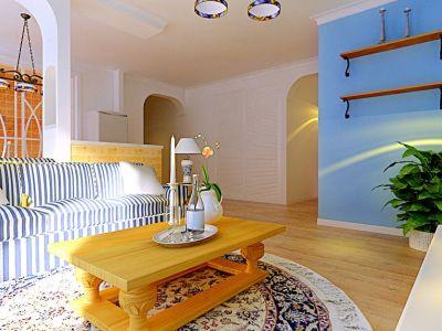 地中海风格-135平米三居室装修样板间