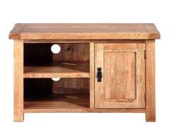 泽润木业-WX1031全实木仿古色1米电视柜