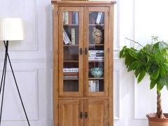 泽润木业-WX1054全实木仿古色两门酒柜