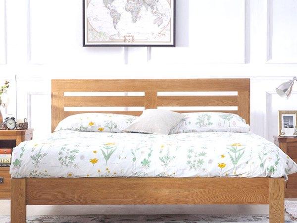 泽润木业-HC180全实木仿古色1.8米床
