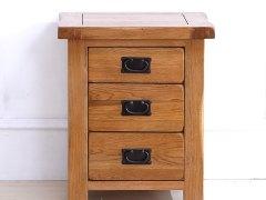 泽润木业-WX1116全实木仿古色床头柜