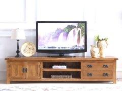 泽润木业-WX1114全实木仿古色电视柜