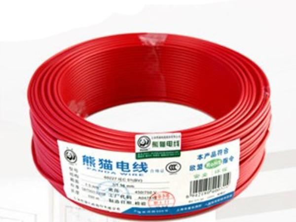 厂家直销 熊猫电线电缆 BV4平方铜芯线单芯铜线线缆 家用电