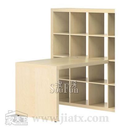 宜家书桌埃克佩迪(仿桦木/白色/黑褐色)