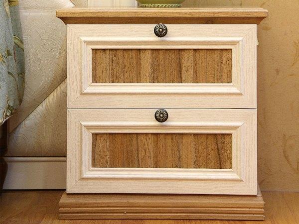 史丹利格拉斯系列白橡胡桃木床头柜