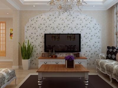 田园风格-100平米二居室装修样板间