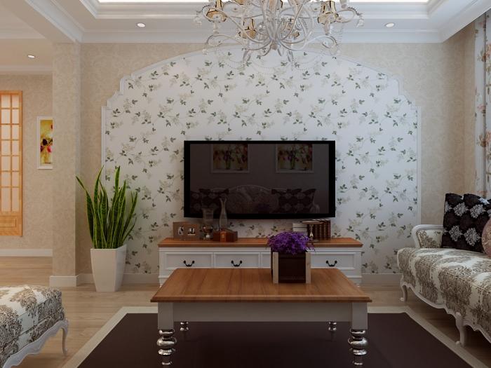 田园风格-100平米二居室-装修样板间
