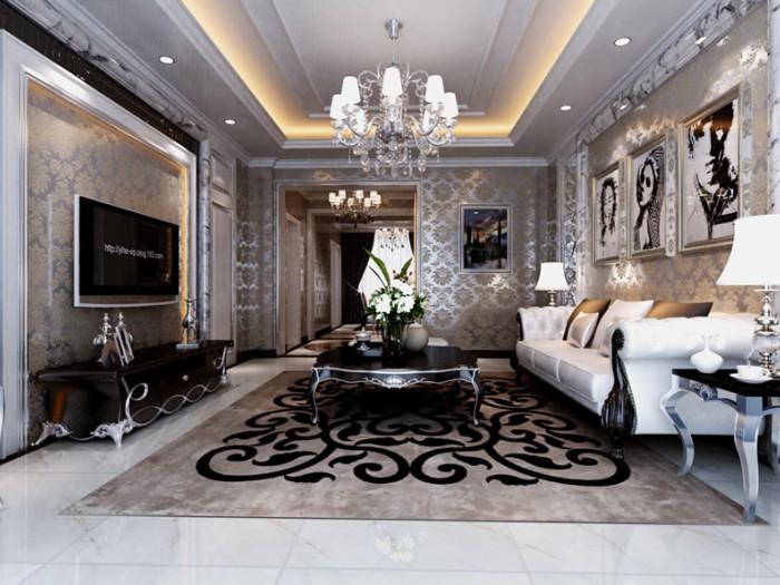 西式古典-156平米三居室-装修样板间