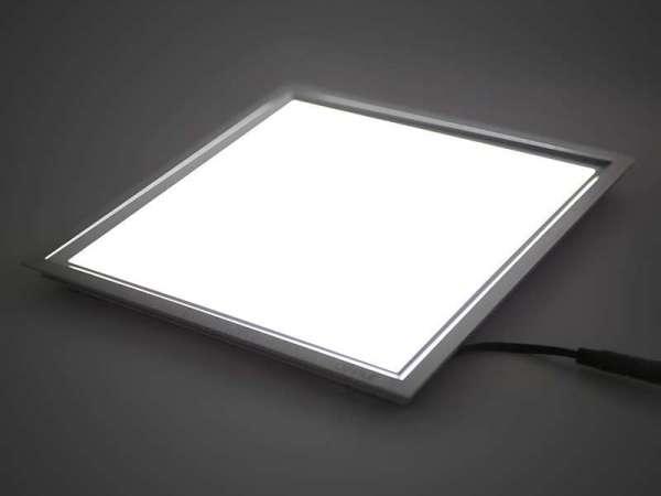 欧普led灯铝材厨房灯平板灯超薄面板灯嵌入式 明阁18W暖白