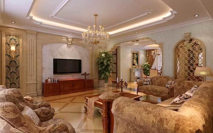 中式古典-149平米三居室-装修样板间