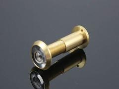 正品高清光学广角纯铜猫眼门镜防盗门标准管径16/28带盖