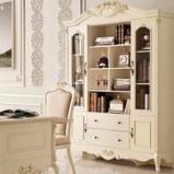 法式浪漫板式书柜图片