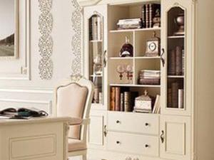 法式浪漫板式书柜
