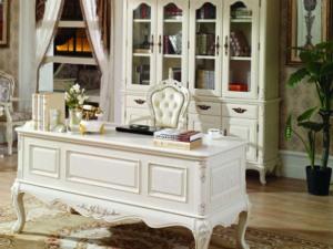 英式风格 米白色书桌