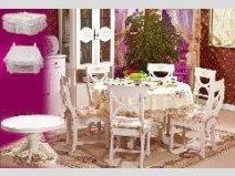 英式风格 贴心桌脚设计餐桌图片