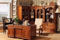 雅致奢华实木书柜图片