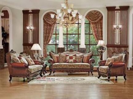 精美绝伦 实木雕花沙发套装