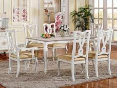 实木框架精致雕花 1.6米长餐桌