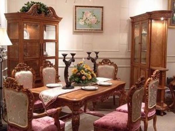 美式古典 进口白杨1.6米长餐桌