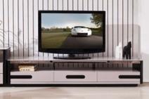 现代风格 钢化玻璃台面 电视柜图片