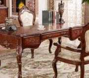 美式古典 精致书桌图片