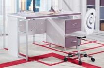 现代风格 紫色系书桌图片