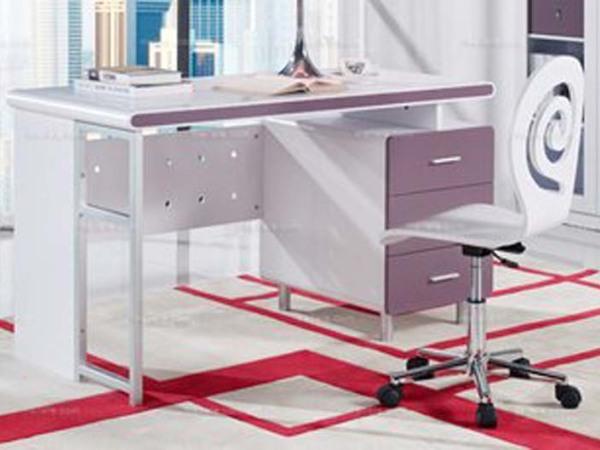 现代风格 紫色系书桌