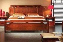 中式风格 完美家居大床三件套图片