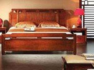 中式风格 完美家居大床三件套