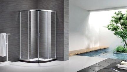 朗斯定制淋浴房弧形钢化玻璃浴室屏风隔断全屋定制穆勒系列