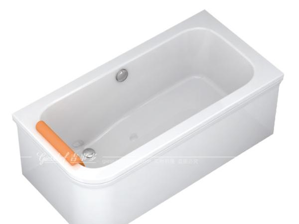 乐活LOHAS 1.5米右裙压克力浴缸(含排水)