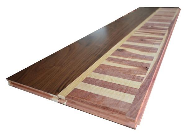 红桧底黑胡桃双层实木地板