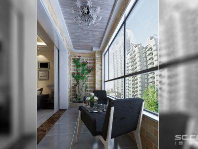 现代简约-187平米四居室装修样板间