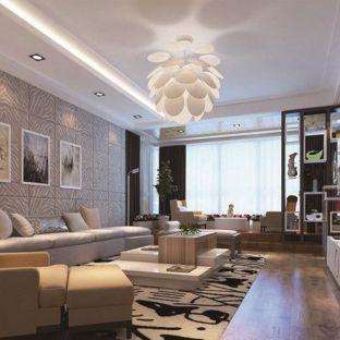 后现代三居室装修效果图
