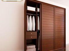 SOGAL索菲亚卧室家具 定制衣柜 现代简约风格马赛大百叶整