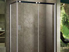 朗斯淋浴房达维E31定制淋浴房整体L型方形钢化玻璃防爆膜