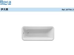 Roca乐家伊元素矩形压克力浴缸 压克力浴缸品牌