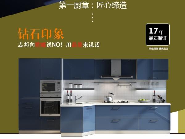 ZBOM志邦 志邦橱柜 整体厨房 整体橱柜 橱柜定做 UV漆