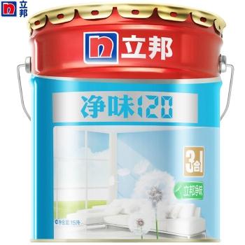 立邦漆油漆乳胶漆内墙涂料净味120三合一面漆15L