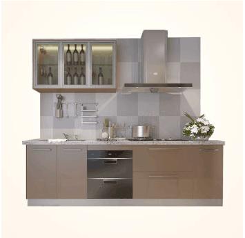 欧派整体橱柜定做 整体厨房装修厨柜石英石 现代风格 咖啡物语